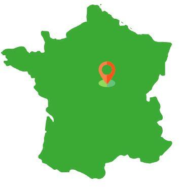 Localisation Forêt de Luthenay